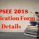 UPSEE 2018 Application Form Details