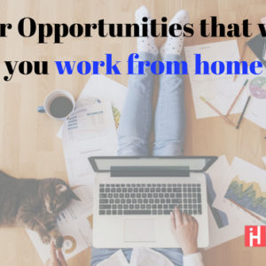 Work from home with the leading career opportunities of 21st century